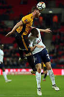 Mark O'Brien of Newport County during Tottenham Hotspur vs Newport County, Emirates FA Cup Football at Wembley Stadium on 7th February 2018