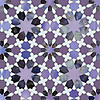 Granada, a jewel glass waterjet mosaic shown in Opal, Purple Spinel, Amethyst with special order Sonia and Rolly, is part of the Miraflores collection by Paul Schatz for New Ravenna.