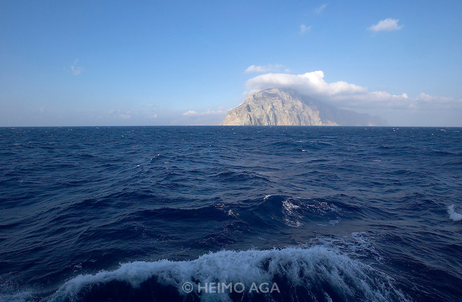 Amorgos seen from aboard the Sea Cloud.