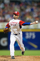 11 March 2009: #49 Pedro Feliciano of Puerto Rico pitches against the Netherlands during the 2009 World Baseball Classic Pool D game 6 at Hiram Bithorn Stadium in San Juan, Puerto Rico. Puerto Rico wins 5-0 over the Netherlands