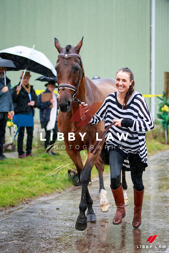 Amanda Pottinger with Just Kidding during the NRM CCI3* Open National Championship 1st Horse Inspection at the 2017 NZL-NRM National Three Day Event Championships. National Equestrian Center, Taupo. Thursday 11 May. Copyright Photo: Libby Law Photography