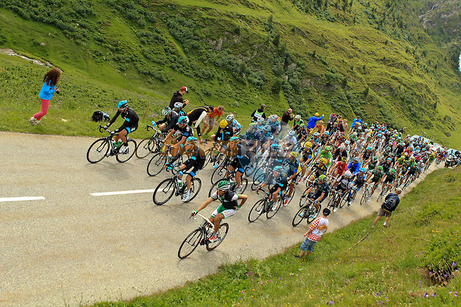 Sky Procycling at the sharp end of the peloton during Stage 19 of the 100th Edition of the 2013 Tour de France from Bourg-d'Oisans to Le Grand-Bornand. 19th July 2013.<br /> (Photo:Thomas van Bracht / Peloton Photos/www.newsfile.ie)