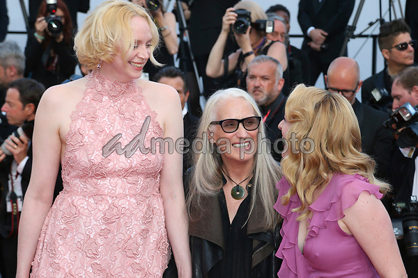 "24 May 2017 - Cannes, France - Gwendoline Christie, Elisabeth Moss, Jane Campion . ""The Beguiled"" Premiere - The 70th Annual Cannes Film Festival. Photo Credit: Georg Wenzel/face to face/AdMedia"