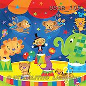 Sarah, CUTE ANIMALS, LUSTIGE TIERE, ANIMALITOS DIVERTIDOS, paintings+++++circus-13-A,USSB105,#AC# ,birthday,circus ,everyday