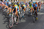 Tour de France 2009, won by Alberto Contador of Astana, arrives on the circuit of the Champs Elysees and Rue de Rivoli in Paris