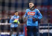 26th January 2020; Stadio San Paolo, Naples, Campania, Italy; Serie A Football, Napoli versus Juventus; Alex Meret of Napoli pre-game warm up