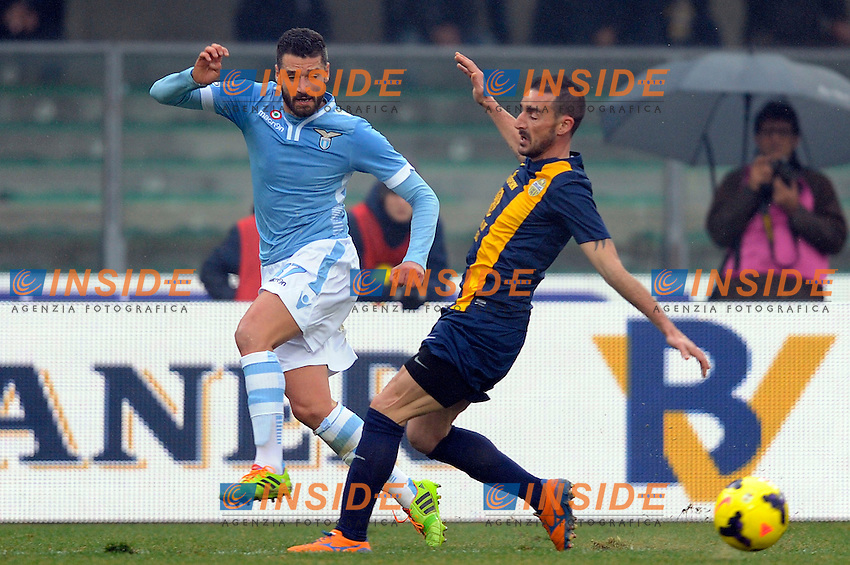 Antonio Candreva Lazio <br /> Verona 22-12-2013, Stadio Bentegodi, Football Calcio 2013/2014 Serie A, Verona - Lazio, Foto Insidefoto