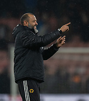 Nuno Espirito Santo fans applaud their team at the final whistle <br /> <br /> Photographer David Horton/CameraSport<br /> <br /> The Premier League - Bournemouth v Wolverhampton Wanderers - Saturday 23rd November 2019 - Vitality Stadium - Bournemouth<br /> <br /> World Copyright © 2019 CameraSport. All rights reserved. 43 Linden Ave. Countesthorpe. Leicester. England. LE8 5PG - Tel: +44 (0) 116 277 4147 - admin@camerasport.com - www.camerasport.com