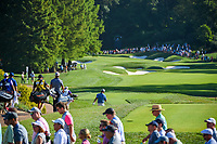 Shubhankar Sharma (IND), Scott Piercy (USA), and Jordan Smith (ENG) head down 12 during 1st round of the 100th PGA Championship at Bellerive Country Cllub, St. Louis, Missouri. 8/9/2018.<br /> Picture: Golffile | Ken Murray<br /> <br /> All photo usage must carry mandatory copyright credit (© Golffile | Ken Murray)