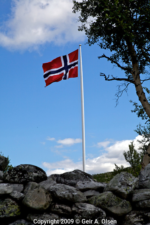Norwegian flag in the wind