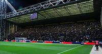 Leeds United fans fill the away end<br /> <br /> Photographer Alex Dodd/CameraSport<br /> <br /> The EFL Sky Bet Championship - Preston North End v Leeds United - Tuesday 22nd October 2019 - Deepdale Stadium - Preston<br /> <br /> World Copyright © 2019 CameraSport. All rights reserved. 43 Linden Ave. Countesthorpe. Leicester. England. LE8 5PG - Tel: +44 (0) 116 277 4147 - admin@camerasport.com - www.camerasport.com