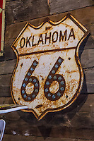 The Seabe Station on Route 66 in Warwick Oklahoma.  The station was opened by John Seaba in 1921, and was expanded to rebuild engines and connection rods and then repairing military trucks during World War II, remaining in business untill 1994.  The Station became Seaba Station Motorcycle Museum in 2010.