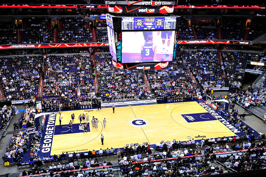 View from upper deck. Georgetown defeated Memphis 70-59 at the Verizon Center in Washington, D.C. on Thursday, December 22, 2011. Alan P. Santos/DC Sports Box