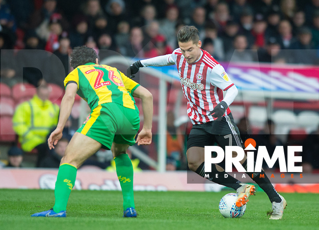 Brentford Sergi Canos during the Sky Bet Championship match between Brentford and West Bromwich Albion at Griffin Park, London, England on 16 March 2019. Photo by Andrew Aleksiejczuk / PRiME Media Images.
