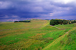 Hadrian's Wall near Houseteads, Northumberland, England