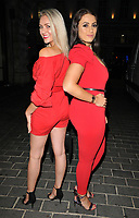 Larissa Eddie and Amel Rachedi at the 1883 Magazine Royalty Issue launch party, Cuckoo Club, Swallow Street, London, England, UK, on Thursday 09 August 2018.<br /> CAP/CAN<br /> &copy;CAN/Capital Pictures
