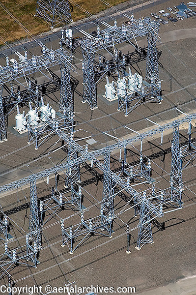 aerial photograph PG&E electrical sub-station, Petaluma, Sonoma county, California