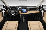 Stock photo of straight dashboard view of 2016 Toyota RAV4 Limited 4x4 Door Suv Dashboard