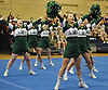The Lindenhurst varsity cheerleading squad performs during an eight-team competition held at Bethpage High School on Sunday, Jan. 22, 2017.