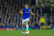 28th September 2017, Goodison Park, Liverpool, England; UEFA Europa League group stage, Everton versus Apollon Limassol; Leighton Baines of Everton FC with the ball