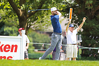 Potomac, MD - June 30, 2018: Kyle Stanley (USA) hits his tee shot during Round 3 at the Quicken Loans National Tournament at TPC Potomac in Potomac, MD, June 30, 2018.  (Photo by Elliott Brown/Media Images International)