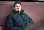 Hearts v St Johnstone...03.12.11   SPL .A glum looking Paulo Sergio.Picture by Graeme Hart..Copyright Perthshire Picture Agency.Tel: 01738 623350  Mobile: 07990 594431
