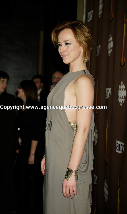 Montreal (Qc) CANADA - March 29 2009 - Jutras award  Gala (for Quebec Cinema) : Karine Vanasse, host of the Gala