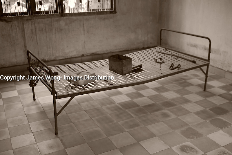 Phnom Penh,Cambodia - 2007 File Photo -<br /> <br /> torture room. ,Tuol Sleng, former Khmer Rouge S-21 prison.<br /> <br /> The Tuol Sleng Genocide Museum is a museum in Phnom Penh, capital of Cambodia. The site is a former high school which was used as the notorious Security Prison 21 (S-21) by the Khmer Rouge regime from its rise to power in 1975 to its fall in 1979. Tuol Sleng in Khmer means &quot;Hill of the Poisonous Trees&quot; or &quot;Strychnine Hill&quot;.<br /> <br /> photo : James Wong-  Images Distribution