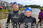 Pictured at the Tralee Tri Grand Prix Triathlon on Saturday morning were front l-r: Ken O'Mahony Cloghane and Aoife O'Mahony