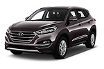 2018 Hyundai Tucson Premium 5 Door SUV angular front stock photos of front three quarter view