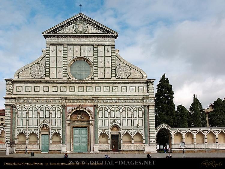 Facade 1470 Leon Battista Alberti Santa Maria Novella Florence