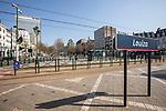 BRUSSELS - BELGIUM - 27 March 2020 --  COVID-19 lockdown. — Louiza, empty Place Louise. — PHOTO: Juha ROININEN / EUP-IMAGES