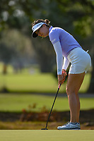 Sandra Gal (DEU) watches her putt on 1 during round 1 of the 2019 US Women's Open, Charleston Country Club, Charleston, South Carolina,  USA. 5/30/2019.<br /> Picture: Golffile | Ken Murray<br /> <br /> All photo usage must carry mandatory copyright credit (© Golffile | Ken Murray)
