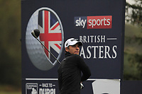 Joakim Lagergren (SWE) on the 3rd tee during Round 4 of the Sky Sports British Masters at Walton Heath Golf Club in Tadworth, Surrey, England on Sunday 14th Oct 2018.<br /> Picture:  Thos Caffrey | Golffile<br /> <br /> All photo usage must carry mandatory copyright credit (&copy; Golffile | Thos Caffrey)