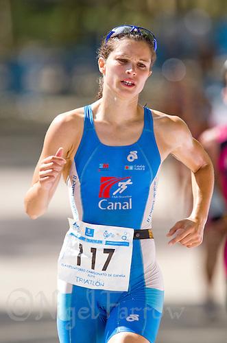 06 JUN 2010 - MADRID, ESP - Guiomar Quinones Ledesma - Spanish Elite Triathlon Championships (PHOTO (C) NIGEL FARROW)