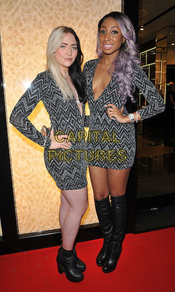 The Glitter Beats ( DJ Tayla &amp; DJ Yuki Love ) attend the #Disaronno Wears Cavalli cocktail reception to mark new Disaronno Limited Edition bottle by Cavalli, Roberto Cavalli boutique, Sloane Street, London, England, UK, on Wednesday 04 November 2015. <br /> CAP/CAN<br /> &copy;Can Nguyen/Capital Pictures