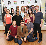 The cast during the Press preview for 'Attack of the Elvis Impersonators'  at Shelter Studios on May 22, 2017 in New York City.