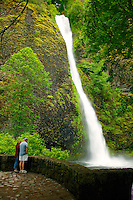 Horesetail Falls, along the Historic Columbia River Highway, Columbia River Gorge National Scenic Area, Oregon