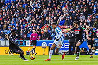 Huddersfield Town's forward Steve Mounie (24) passes through midfied during the EPL - Premier League match between Huddersfield Town and Crystal Palace at the John Smith's Stadium, Huddersfield, England on 17 March 2018. Photo by Stephen Buckley / PRiME Media Images.