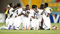 Ghana's players celebrate his goal during their FIFA U-20 World Cup Turkey 2013 Group Stage Group A soccer match Ghana betwen USA at the Kadir Has stadium in Kayseri on June 27, 2013.Photo by Aykut AKICI/isiphotos.com