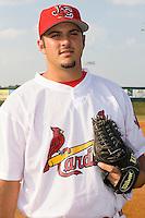 Adam Veres (57) of the Johnson City Cardinals at Howard Johnson Field in Johnson City, TN, Thursday July 3, 2008.