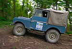 Land Rover Series 1 80inch off-road trialer competing at the ALRC National 2008 RTV Trial. The Association of Land Rover Clubs (ALRC) National Rallye is the biggest annual motor sport oriented Land Rover event and was hosted 2008 by the Midland Rover Owners Club at Eastnor Castle in Herefordshire, UK, 22 - 27 May 2008. --- No releases available. Automotive trademarks are the property of the trademark holder, authorization may be needed for some uses.