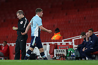 Jack Newton of Blackpool is sent off after receiving a second yellow card during Arsenal Youth vs Blackpool Youth, FA Youth Cup Football at the Emirates Stadium on 16th April 2018