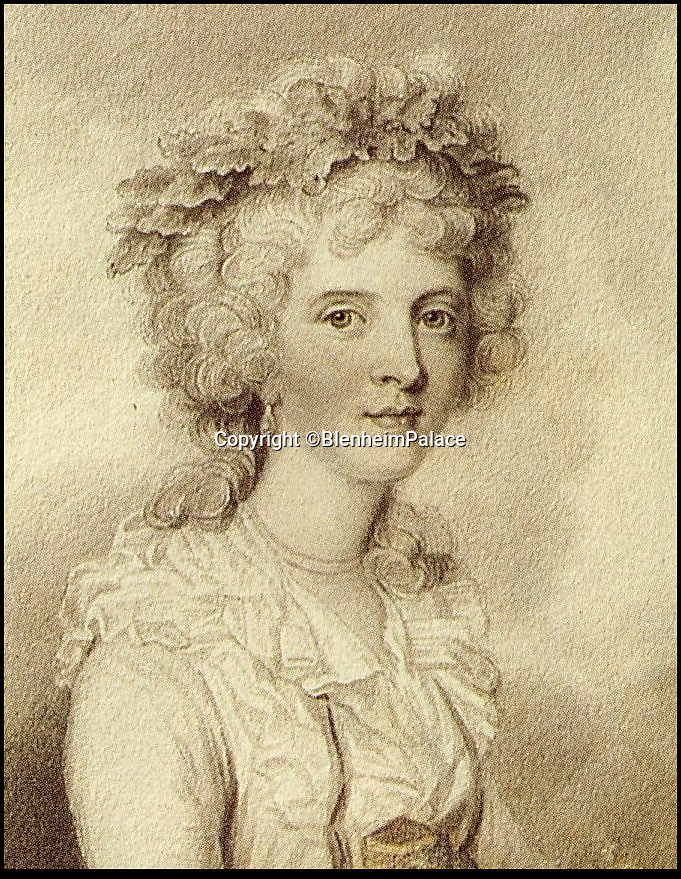 BNPS.co.uk (01202 558833)<br /> Pic: BlenheimPalace/BNPS<br /> <br /> Susan Spencer-Churchill - keen amateur artist and 5th Duchess of Marlborough.<br /> <br /> A previously unseen set of delicate flower painting's put on show at Blenheim Palace actually reveal a Georgian obsession that brought down the 5th Duke of Marlborough.<br /> <br /> The 18th century watercolour's by the Susan Spencer-Churchill, the 5th Duchess, have just been put on display her Oxfordshire home for the first time.<br /> <br /> But the story behind the beautiful paintings uncovers the expensive fascination of the late Geogian aristocracy for the new found craze of plant hunting, which the Duke carried on to such an extent that his vast estate was actually plunged into insolvancy.