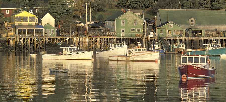 Fishing boats in harbor, Bass Harbor, Maine
