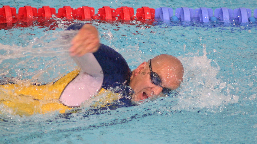 Photo: Paul Thomas..VISA Paralympic World Cup 2007. Swimming. 12/05/2007...Jonas Larsson of Sweden.