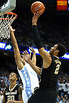 20 January 2016: Wake Forest's Devin Thomas (2). The University of North Carolina Tar Heels hosted the Wake Forest University Demon Deacons at the Dean E. Smith Center in Chapel Hill, North Carolina in a 2015-16 NCAA Division I Men's Basketball game. UNC won the game 83-68.