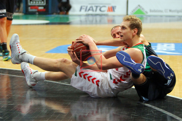 League ACB-Endesa 2015-2016. Game: 16.<br /> FIATC Joventut vs Laboral Kutxa Baskonia: 68-89.<br /> Blazic vs Albert Sabat.