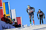 Lucia Scardoni competes during the FIS Cross Country Ski World Cup 10 Km Individual Classic race in Dobbiaco, Toblach a, on December 20, 2015. Norway's Therese Johaug wins. Credit: Pierre Teyssot