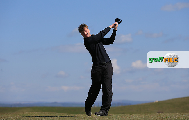 Callum Ward during Round Two of the West of England Championship 2016, at Royal North Devon Golf Club, Westward Ho!, Devon  23/04/2016. Picture: Golffile | David Lloyd<br /> <br /> All photos usage must carry mandatory copyright credit (&copy; Golffile | David Lloyd)